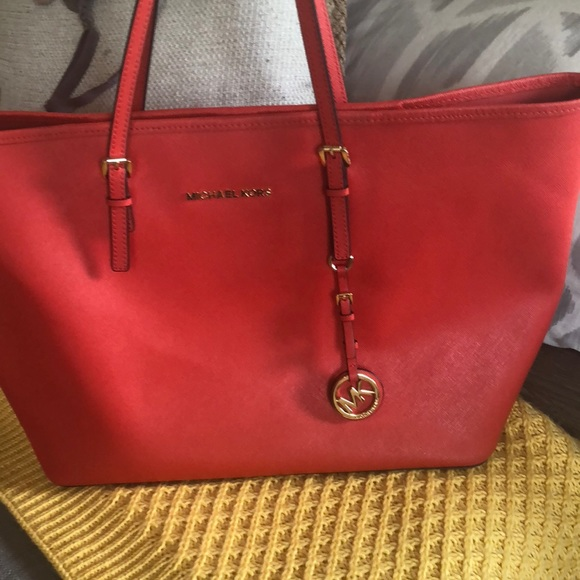 Authentic Michael kors red bag large